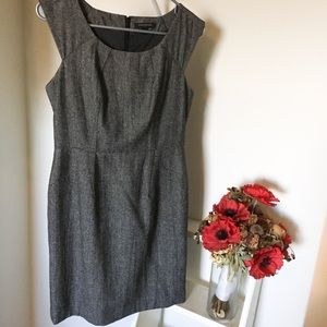Grey Wool Banana Republic Dress